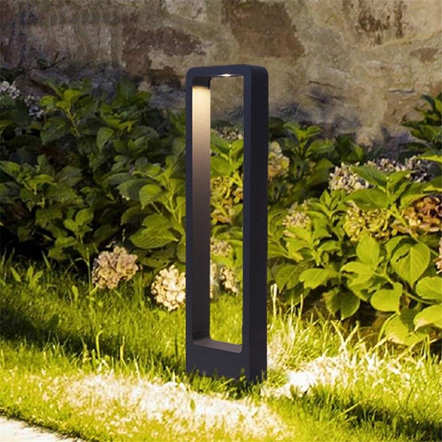 Image 2 - Thrisdar IP65 Outdoor Garden Pathway Lawn Light Holiday Landscape Lawn Pillar Light Villa Passage Walkway Bollard Light-in LED Lawn Lamps from Lights & Lighting
