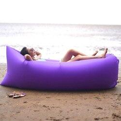 Горячая продажа Портативный Открытый водонепроницаемый надувной мешок ленивый диван кемпинг спальные мешки надувная кровать пляж шезлонг...