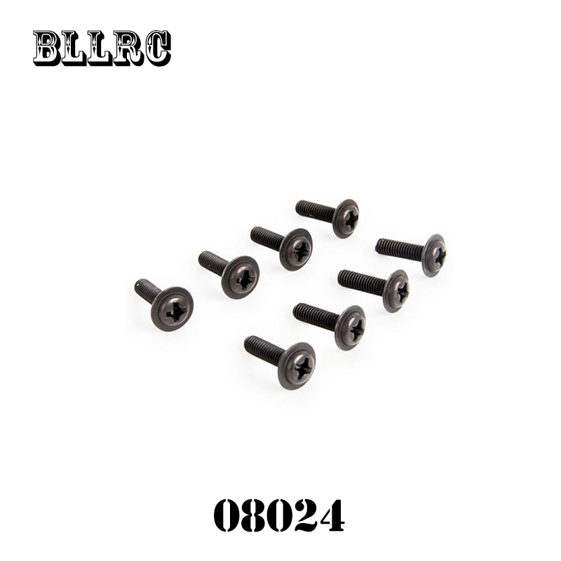 8pcs HSP 08024 Discal Screw M3 10 Spart Parts For 1 10 RC Model Car Discal