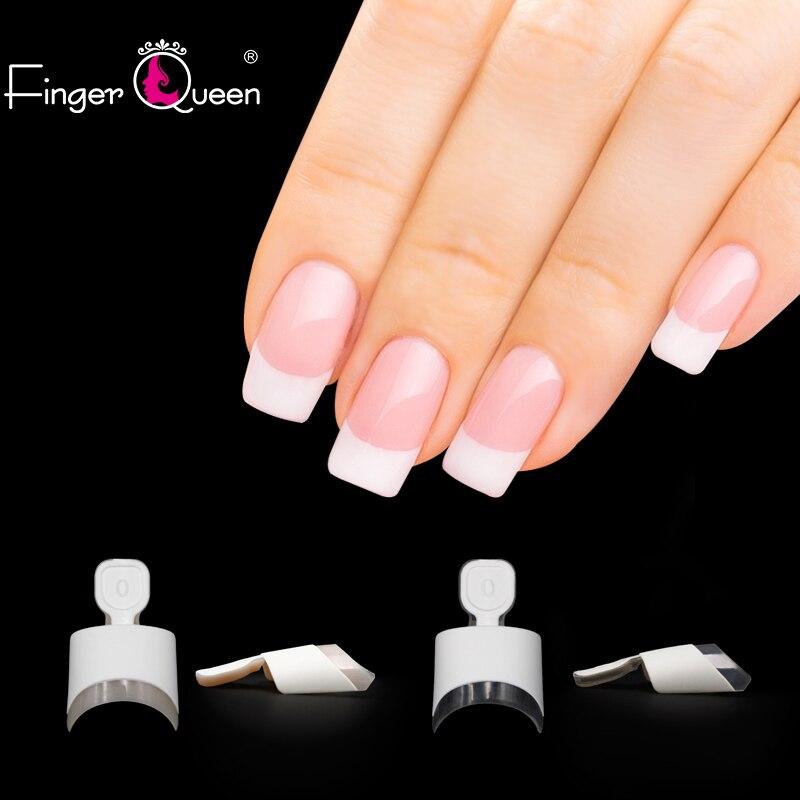 FingerQueen ABS Fake Nails 100PCS Tips Artificial Nails Art French False Nail Art Tip Fingernail Full Nail Tips Art Display