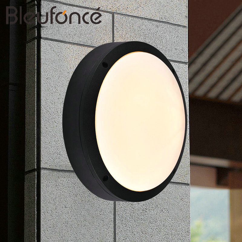 Outdoor Waterproof LED Wall Lamp Modern Simple Round Waterproof Light Indoor Decorative  ...