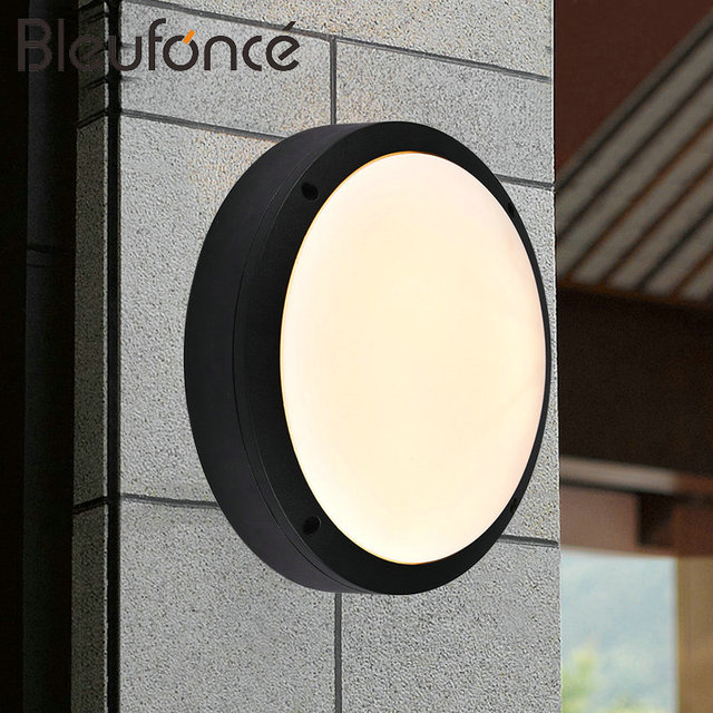 Outdoor waterproof led wall lamp modern simple round waterproof outdoor waterproof led wall lamp modern simple round waterproof light indoor decorative wall sconce led garden aloadofball Choice Image