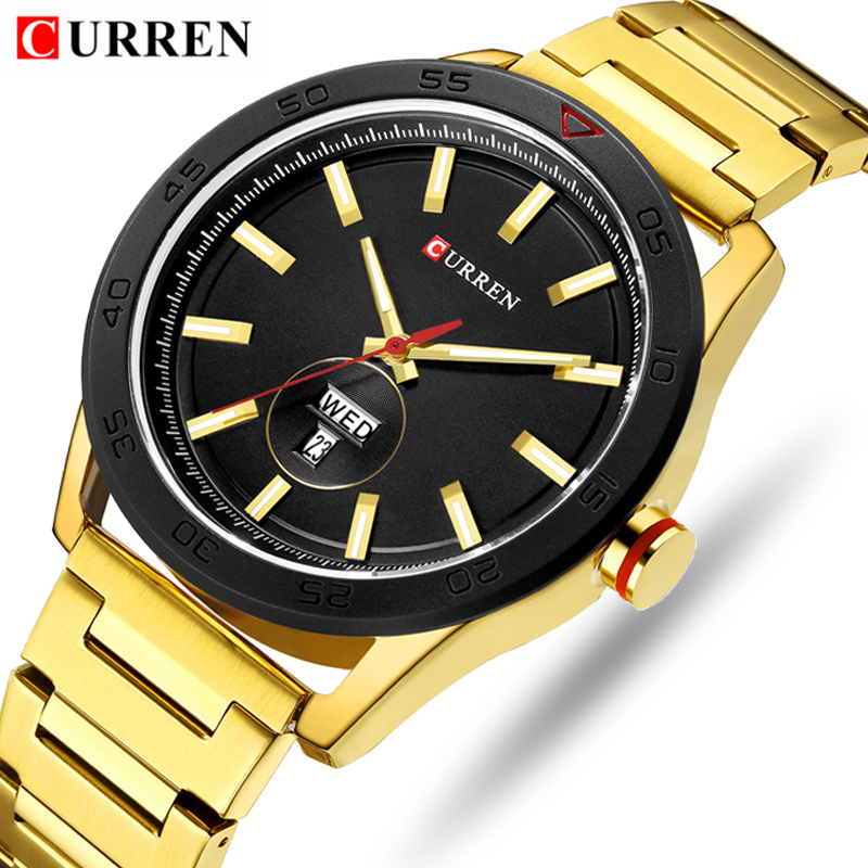 CURREN Top Luxury Brand Gold Full Steel CURREN Top Luxury Brand Gold Full Steel