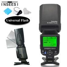 INSEESI IN 560IV PLUS กล้องแฟลช SPEEDLITE สำหรับ Canon 6D 650D Pentax Nikon D5300 D7200 D7100 D3100 D90 D3200 D5200 Olympus