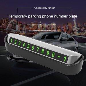 Image 2 - รถหมายเลขโทรศัพท์ที่จอดรถชั่วคราวการ์ดใบอนุญาตอัตโนมัติรถสติกเกอร์เปลี่ยนซ่อนโทรศัพท์มือถือบัตร