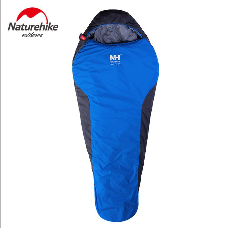 Naturehike Waterproof Ultralight Camping Sleeping Bag Adult Cutton Winter Sleeping Bag 210 * 83cm Camping equipment NH15S013-D naturehike waterproof mummy camping sleeping bag cutton lining winter outdoor ultralight warmth camping sleeping bag nh15s013 d