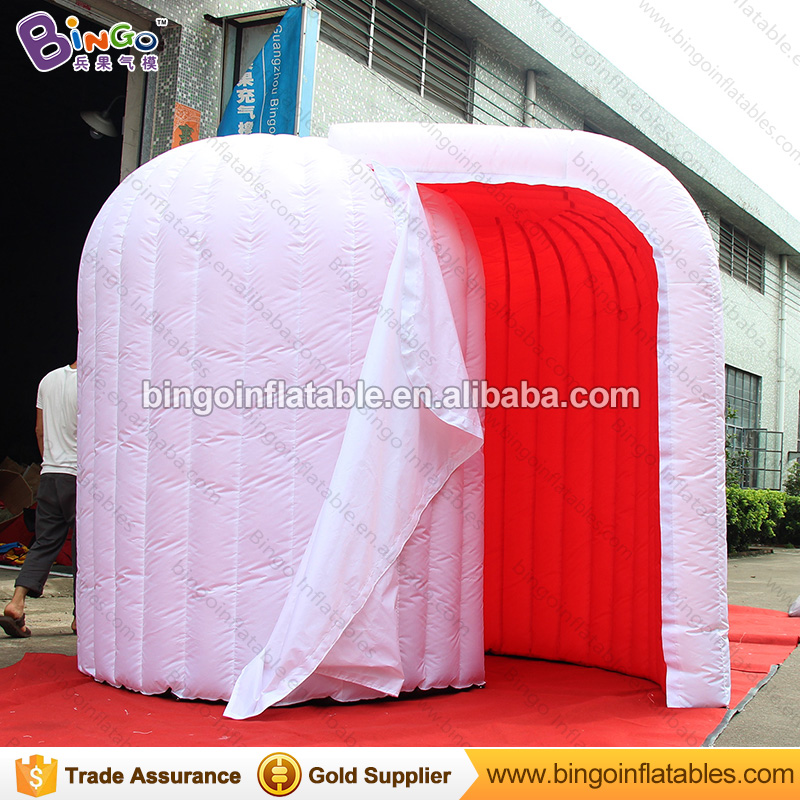 Factory direct sale 3X2X2.3M LED inflatable photo booth type red inside white outside lighting dome igloo for wedding party prop алексей алешко недвижимость inside 2