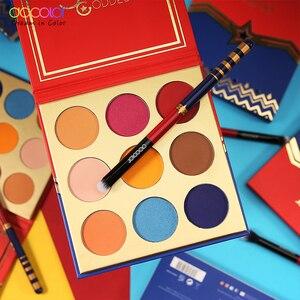 Image 5 - Docolor 12pcs Spazzole di Trucco Professionale Cosmetici In Polvere Prodotti Di Base Eyeshadow Brush Set e 9 di Colore Ombretto Nude Tavolozze Kit