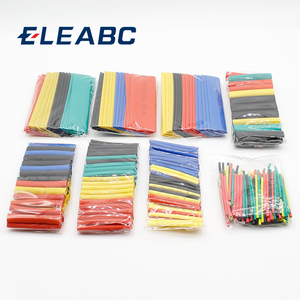 328Pcs Colorful Assorted Heat Shrink Tube Assortment Wrap Electrical Insulation Cable Tubing 5 Colors 8 Sizes Set Combo --M25