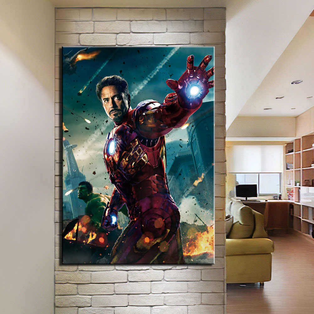 Home Decor Canvas Painting The Avengers 1 Piece Picture Wall Art Prints Modern Modular Cuadros Poster For Living Room