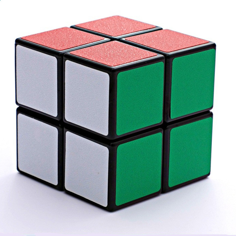 2 Layers Puzzle Toys Magic Cubes 50mm 2x2x2 Profissional Speed Cube Educational Cubo Magico Toys For Children Kids Student MF212