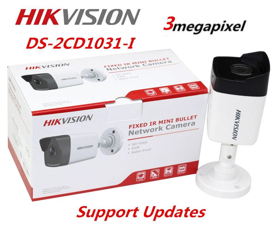 Hikvision DS-2CD1031-I 3MP Mini Bullet IP Camera POE Replace DS-2CD2032F-I DS-2CD2035F-I  Hikvision Camera фразеологизмы обиходной жизни mini cd