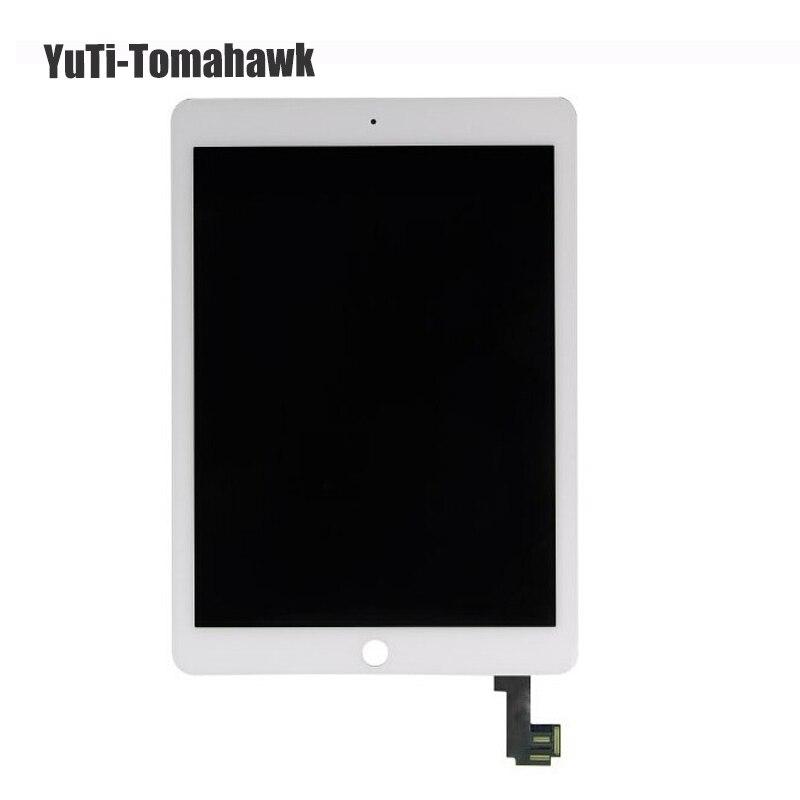 100% Original pour Apple ipad air 2 Lcd affichage avec écran tactile numériseur pour ipad 6 ipad air 2 A1567 A1566 noir blanc
