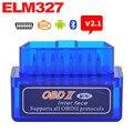 ¡ CALIENTE!!! Super Mini ELM327 Bluetooth V2.1 DEL OLMO 327 OBD2 OBDII can autobús Del Coche Herramienta de Análisis funciona en Android Soporte Todos OBD2 protocolos