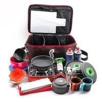 Походная сумка для пикника, походная Портативная сумка для хранения еды, походная посуда для пикника, набор посуды для пикника, газовый бак