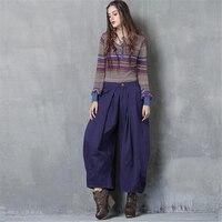 Yeni Sonbahar Kadın Pantolon Tam Boy Vintage Katı Yumuşak Gevşek Geniş Bacak Pantolon Kadın Ofis rahat pantolon toptan Bayanlar Pantolon