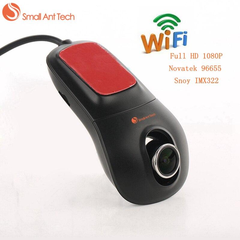 SmallAntTech DVR De Voiture Registrator Enregistreur Vidéo Full HD 1080 P Novatek 96655 Snoy IMX322 WiFi Vision Nocturne 30FPS Dash Caméra Cam