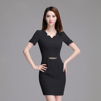 2018 Summer Dresses New Product Temperament Self Cultivation Package Buttocks Occupation Short Sleeve Party Dress Office