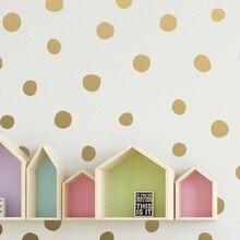 Нарисованные вручную Необычные Наклейки на стены в горошек, декор для детской комнаты, конфетти, виниловая настенная наклейка в детскую фреску, Настенная художественная наклейка, украшение