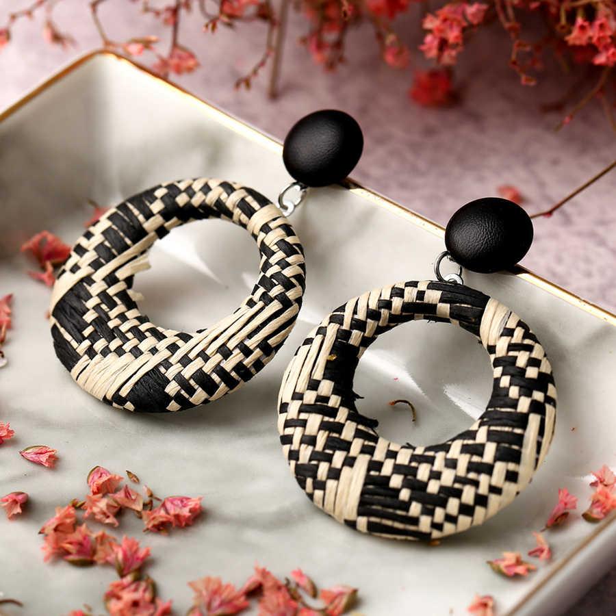 TANGDOGET ออกแบบ Handmade ต่างหูผู้หญิงต่างหูกลมสำหรับหญิง Drop ของขวัญต่างหูสำหรับเพื่อน F1659