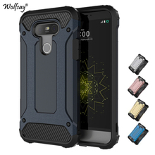Wolfsay For Case LG G5 Cover Durable Armor TPU & PC Case For LG G5 Case For LG G5 H830 H840 H850 Business Style Phone Fundas *