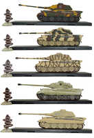 1/72 Tiger 2-Wallonia 1944 Diecast Atlas World War II Tank Military Models