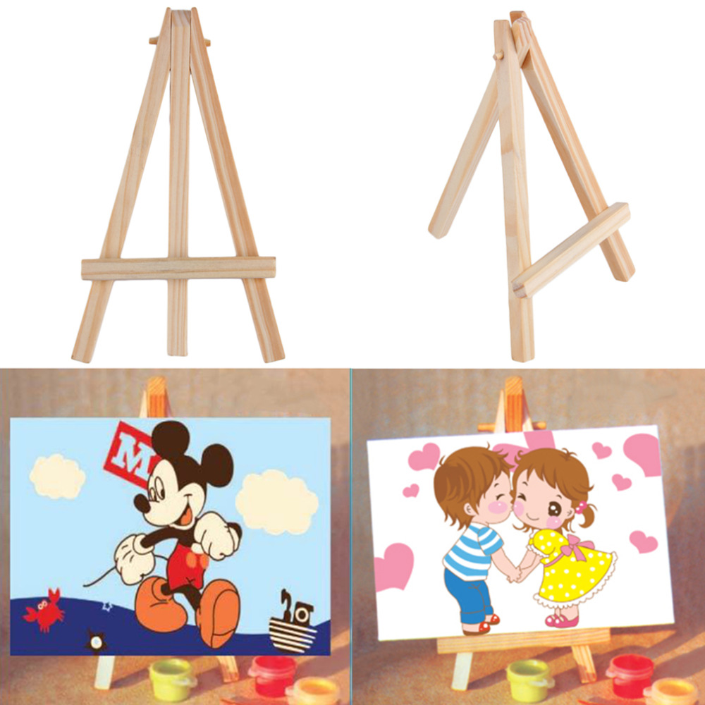 Kids Mini Wooden Easel Artist Art Painting Name Card Stand