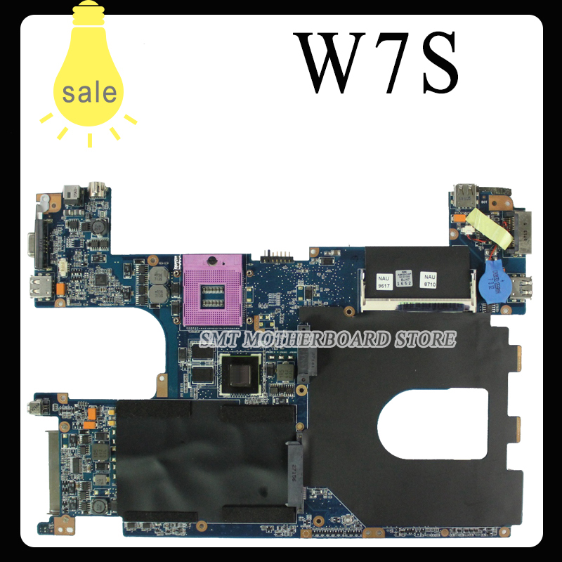 For Asus W7S Laptop motherboard system board mainboard free shipping laptop motherboard for asus g60vx series mainboard system board
