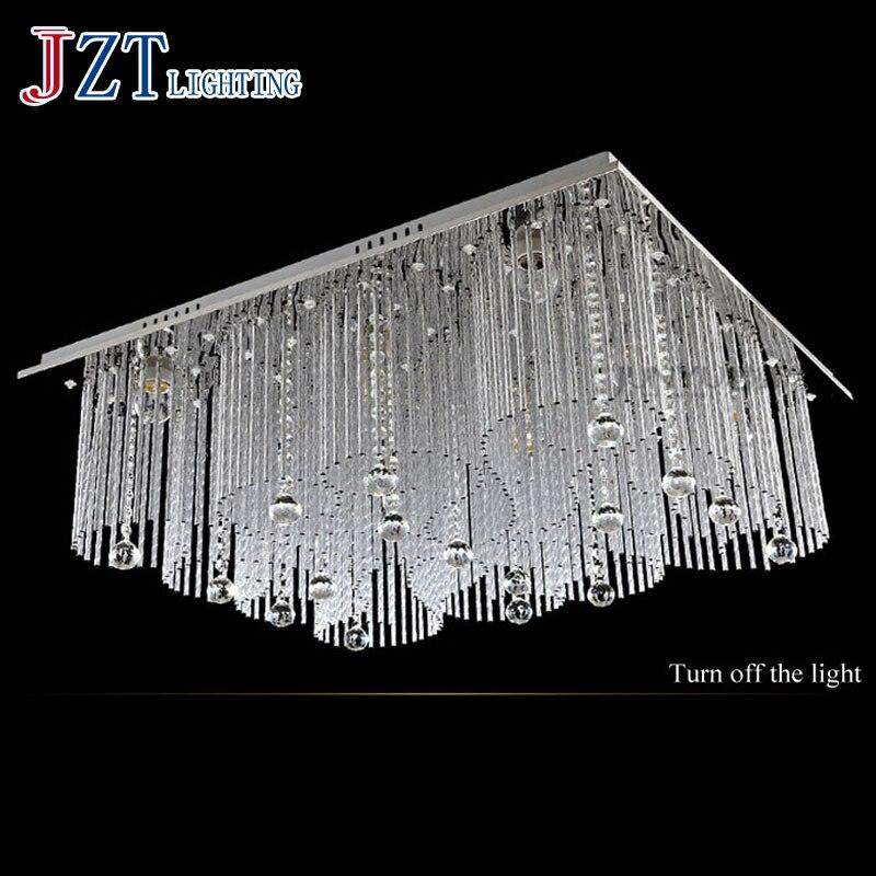 T Lucury Romantische Rechteckige Kristall Deckenleuchte Moderne Kreative LED Super Helle Lampen Fr Foyer Balkon Schlafzimmer