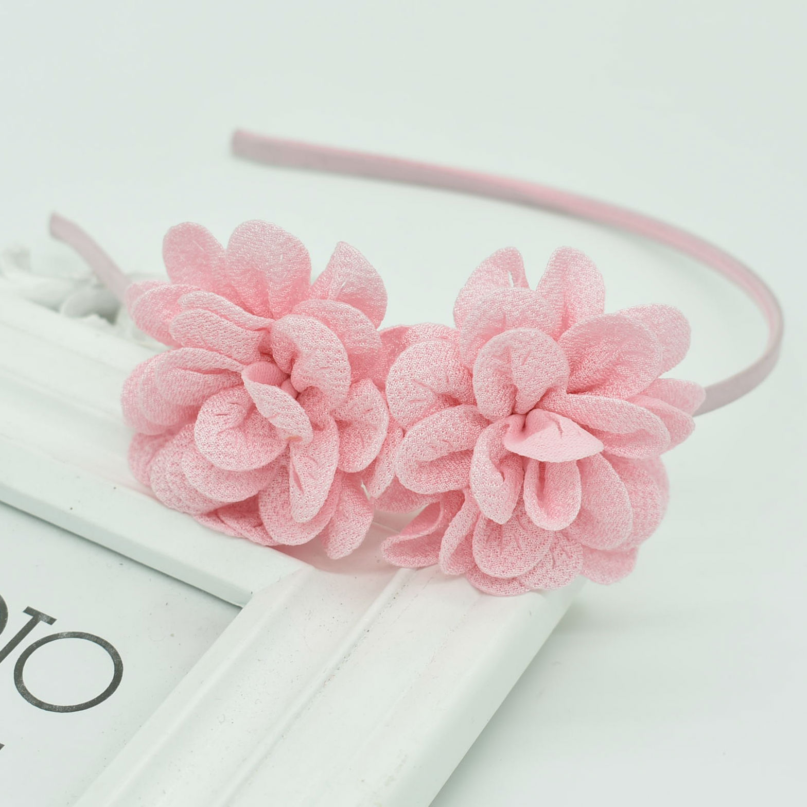 2018 New Popular Children's Two Flower Headband Headdress Girls Multicolor Hair Accessories Flower Hair Band Female Pop Gift
