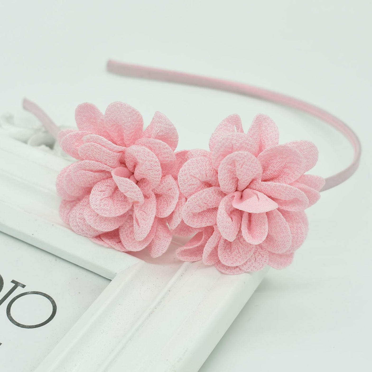 2018 New Popular Children's Two Flower Headband Headdress Girls Multicolor Hair Accessories Flower Hair Band Female Pop Gift