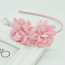 2018 New popular Childrens Two flower headband headdress girls multicolor hair accessories band Female pop gift