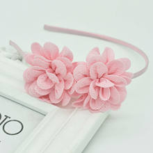 2018 New popular Children's Two flower headband headdress girls multicolor hair accessories flower hair band Female pop gift(China)