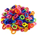 Atacado 100 círculo de cabelo corda cabeça cor do fruto das crianças preto e branco one-time trompete cabelo corda de borracha banda de anel de toalha