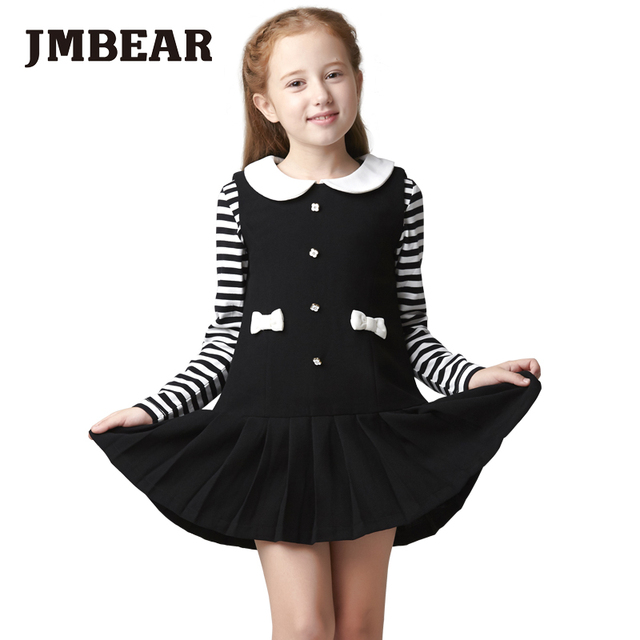 JMBEAR 6-14 years girls dresses sleeveless wedding dress princess dress for evening school fashion autumn new 2016