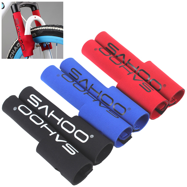2Pcs/Pair Bicycle Frame Chain Protector Cycling Mountain Bike Stay Front Fork Protection Guard Protective Pad Wrap Cover