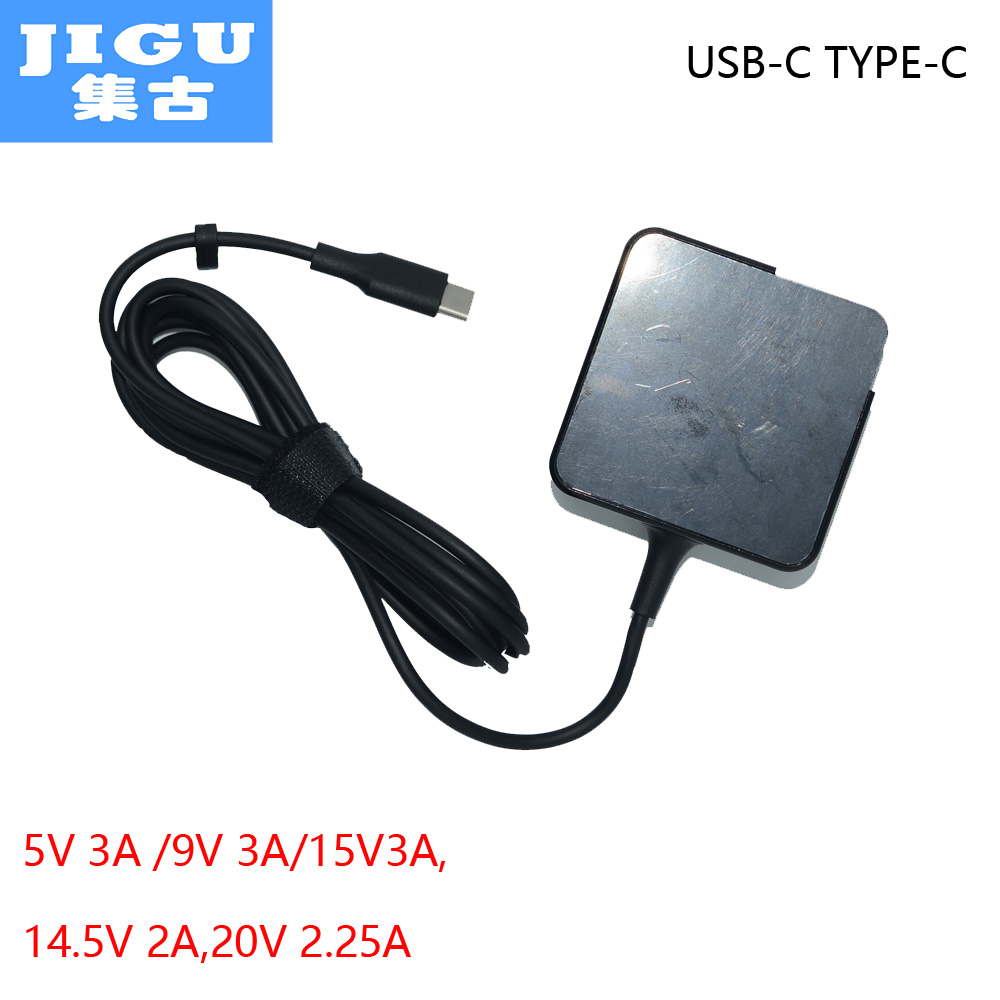 JIGU 45W AC Adapter 5V3A 9V3A 14.5V2A 12V3A 15V3A 20V2.25A for Lenovo/Google/Apple/HP/Acer/ASUS/HUAWEI/Sony MOBILE USB-C Device