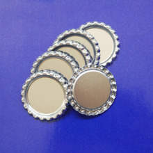 Free Shipping 1000 pcs/Lot 1 Inch Flattened Chrome Bottle Caps Flat Bottle Cap For Bows Flat BottleCaps For 1 Inch Domes