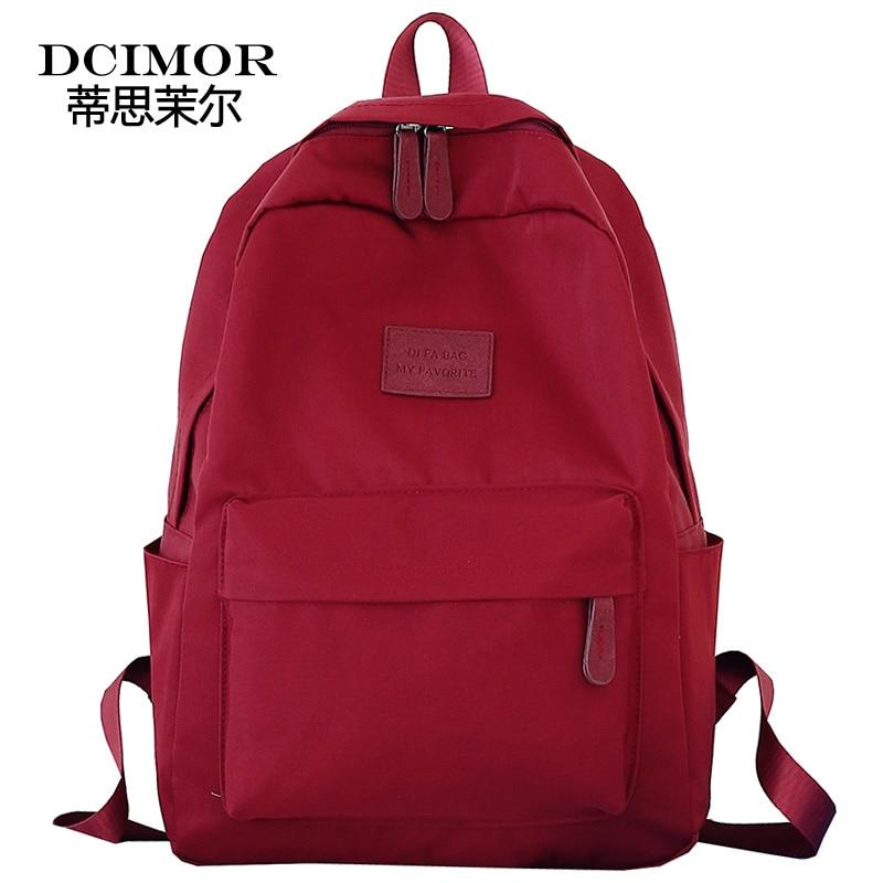 DCIMOR School Backpack highest waterproof nylon large capacity laptop backpack for Teenage Girls College Bagpack Travel Mochila
