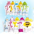 LittleSpring baby bath towel baby hooded towel animal print cotton towels kids bath wrap children's bath wear
