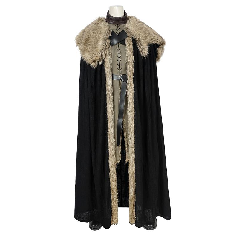 Jon Snow Costume Game of Thrones Season 8 Cosplay Leather Vest Boots Song of Ice and Fire Suit Halloween Men Outfit Custom Made image