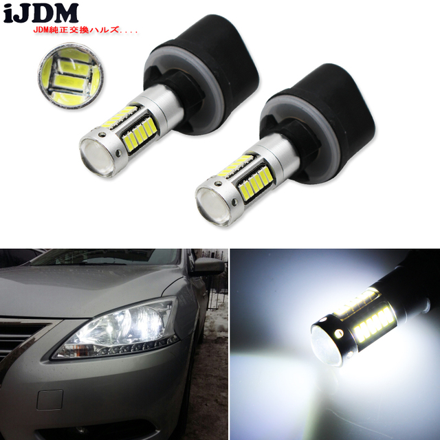 iJDM car H27 881 Led Bulb For Cars H27W/2 H27W2 Auto Fog Light DRL 12V 886 889 881 880 LED Bulbs Driving Daytime Running Light
