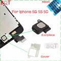 High Quality Ear Piece Speaker for Iphone 5 5S 5C Earpiece Sound Speaker Flex Cable With Metal Cover & Mesh Dust Rubber