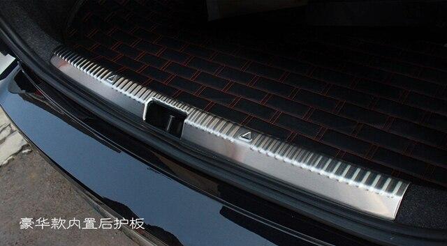 Auto rear bumper protector trim interior  for Skoda Octavia 2015,stainless steel,auto accessories