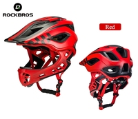 ROCKBROS 2 In 1 Bike Bicycle MTB Cycling Helmet Full Covered Child Helmets EPS Parallel Car Motorcycle Children Sport Safety Hat