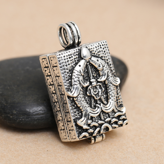 that every year more than S925 Sterling Silver Vintage Silver Amulet