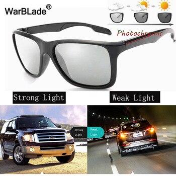 43e09261b3 WarBLade fotocromáticos gafas de sol hombres conducción Anti-glare  polarizado camaleón decoloración gafas de sol día y noche gafas