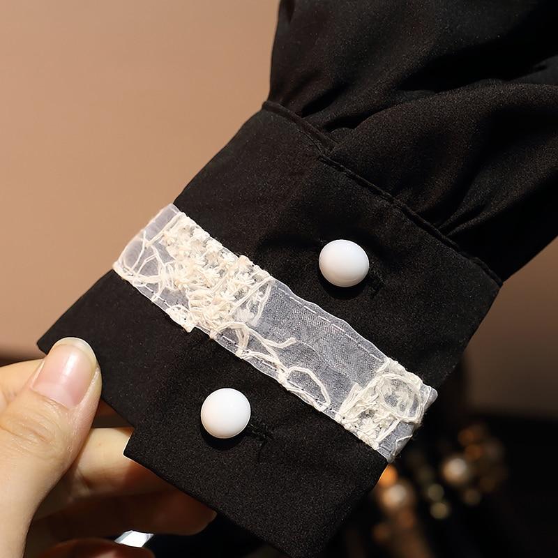 Plus Primavera L Hamaliel Gran 2019 Moda Las Camiseta Tops Gasa 4xl Tamaño Encaje De Negro Blusa Blusas Larga Mujeres Patchwork 1rEdwdYWq