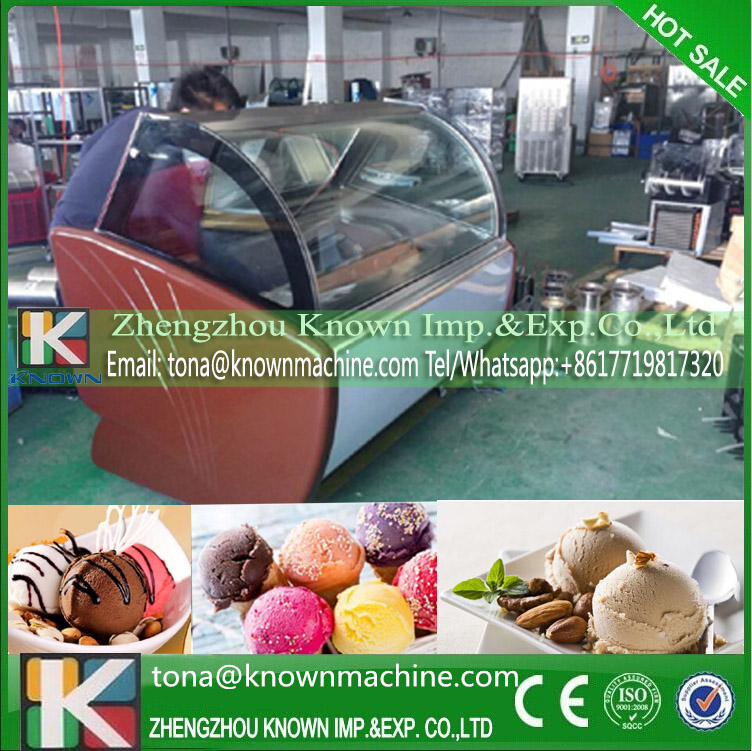CE 1350W Commercial Ice Cream Showcase Price Shipping By Sea