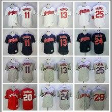 0895d654d1c MLB Men s Ceveland Indians Rick Vaughn Omar Vizquel Jose Ramirez Roberto  Alomar Jim Thome jerseys(